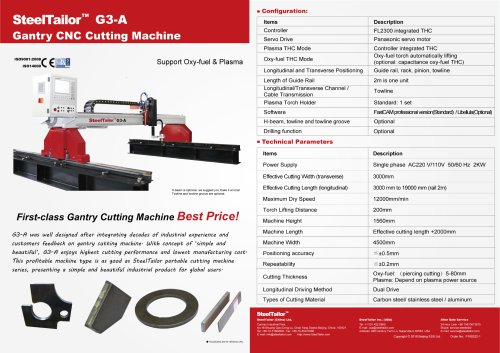 SteelTailor G3 Gantry cutting machine