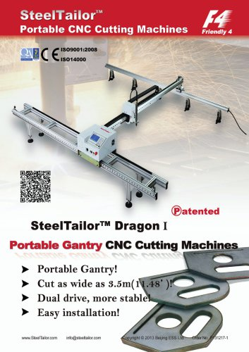 SteelTailor Portable CNC cutting machines(Dragon) with QR Code