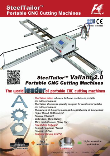 SteelTailor Valiant 2.0 Portable CNC Cutting Machine with QR Code
