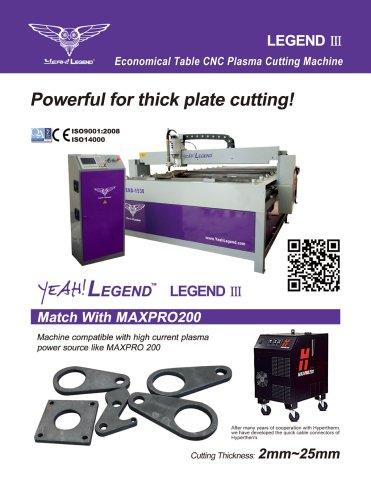 Yeah!Legend Legend III Economical Table CNC Plasma Cutting Machine