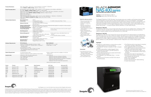 BlackArmor® NAS 440 Network Storage Server