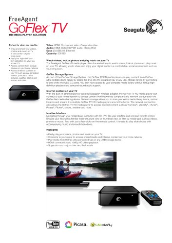 GoFlex TV HD Media Player