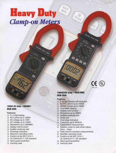 Digital Clamp Meter 1000A AC/DC