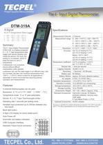 Digital temperature data logger K J E T thermocouple recorder  Tecpel DTM-319A - 1