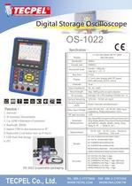 Handheld 20MHz Oscilloscope TECPEL OS-1022 - 1