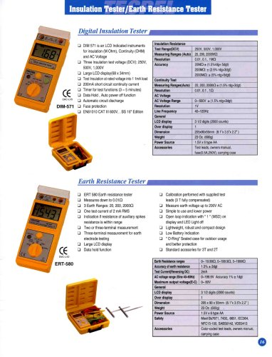 High Insulation Tester/Earth Resistance Tester