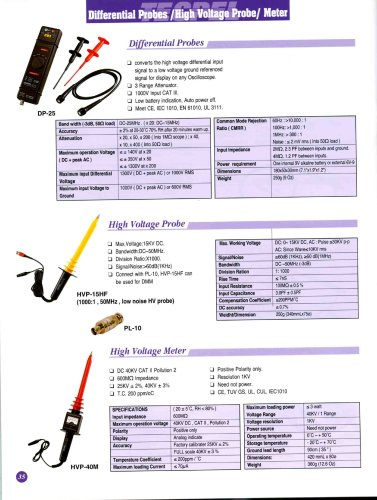High Voltage Probe  Meter_ Differential Probe