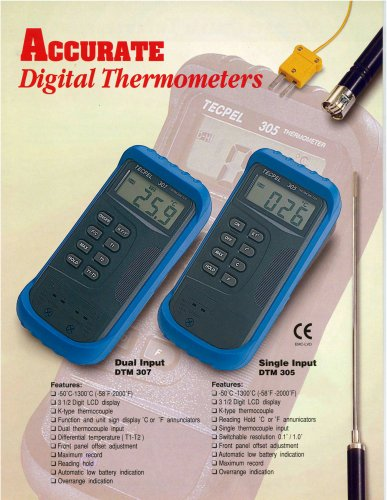 Industrial Thermometer, Thermocouple Temperature meter
