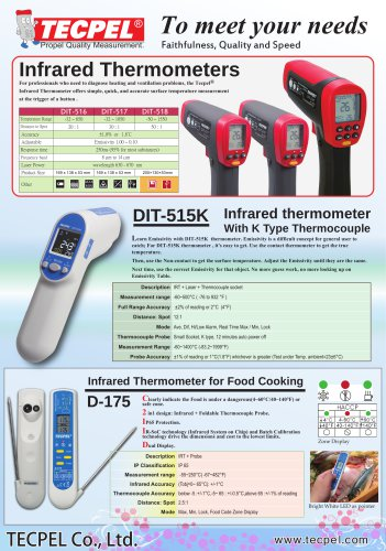 New Infrared Thermometer Non-Contact