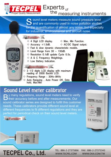 Sound Level meter and calibrator