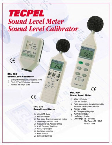 Sound Level Meter/ Noise meter/ Calibrator