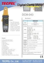 TECPEL AC/DC High Resolution 1mA (0.001A)  Clamp meter DCM-043 - 1