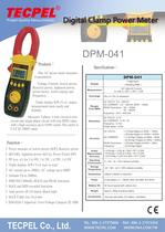 TECPEL AC Power clamp meter 1000A, 3ψ4W, 3ψ3W, 1ψ2W, 1ψ3W - 1