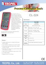 TECPEL® CL-324  hand-held process calibrator - 1