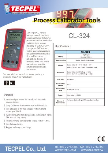 TECPEL® CL-324  hand-held process calibrator