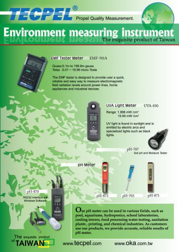 TECPEL Environment Measuring Meter
