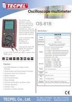TECPEL Handheld Oscilloscope Multimeter OS-81B - 1