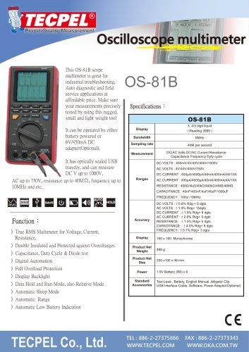TECPEL Handheld Oscilloscope Multimeter OS-81B