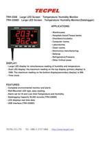 Temperature Humidity data logger LED large panel display - 1