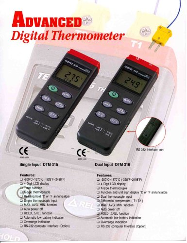 Temperature Meter RS-232 (USB Option)