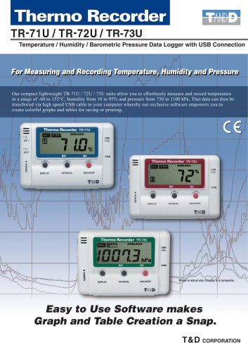Temperautre Humidity Barometric pressure Data logger with USB