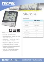 Thermo Hygrometer with Alarm clock DTM-301H - 1