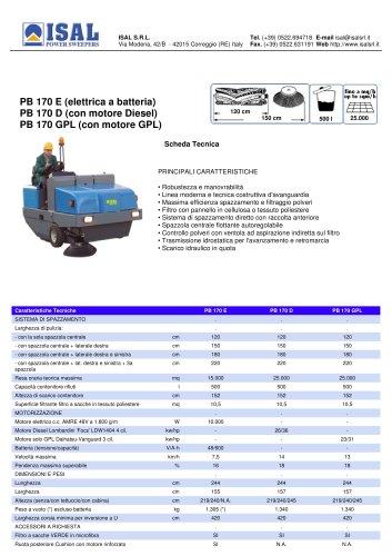 PB 170 E - PB 170 D - PB 170 GPL