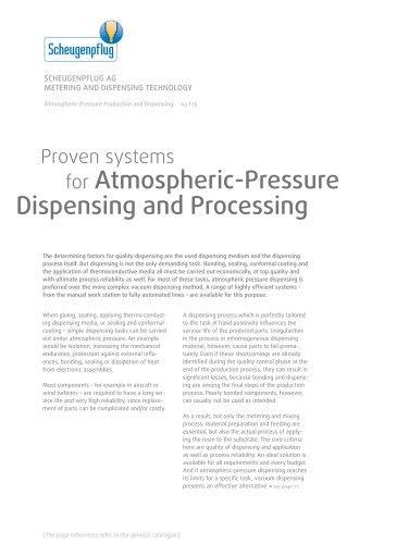 Atmospheric-Pressure Production and Dispensing