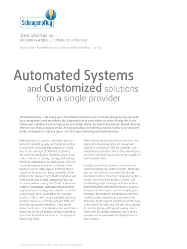 Automation - Standard Systems and Customised Solutions
