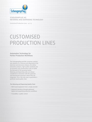 Customised Production Lines