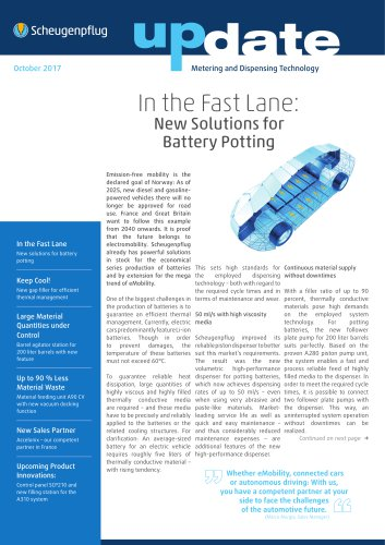 In the Fast Lane: New Solutions for Battery Potting