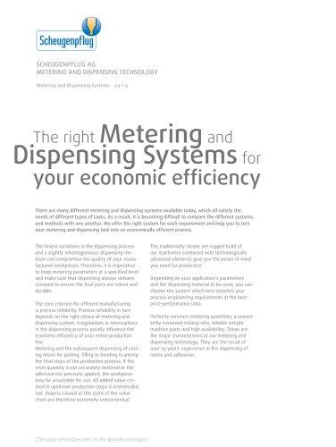 Metering Dispensing Systems