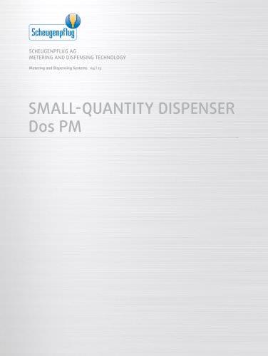 Small-Quantity Dispenser Dos PM