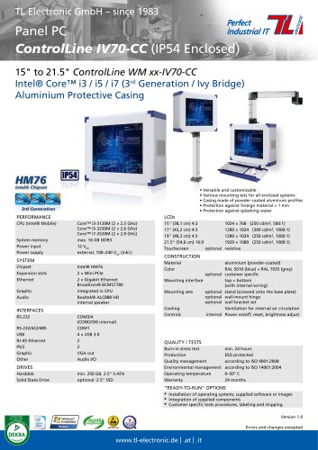 ControlLine IV70-CC Series