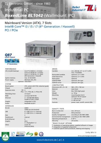 Industrial PC BoxedLine BL1042 Q87a