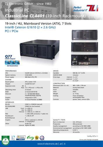 Industrial PC ClassicLine CL4401 Q77a
