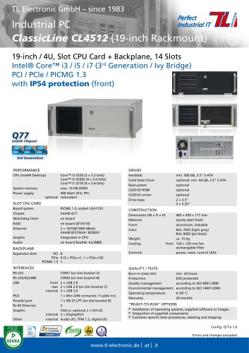 Industrial PC ClassicLine CL4512