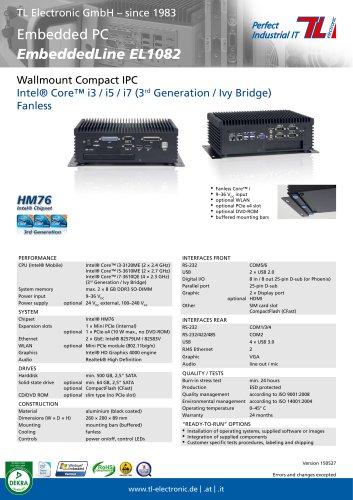 Industrial PC EmbeddedLine EL1082