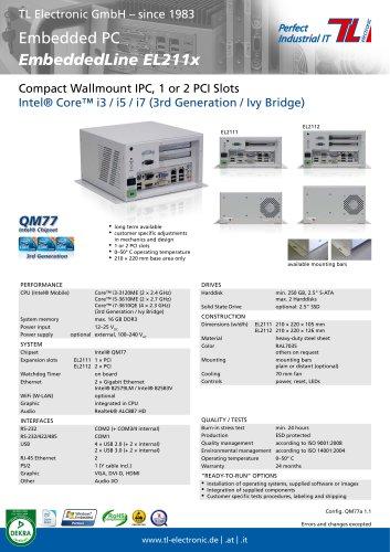 Industrial PC EmbeddedLine EL211x QM77a