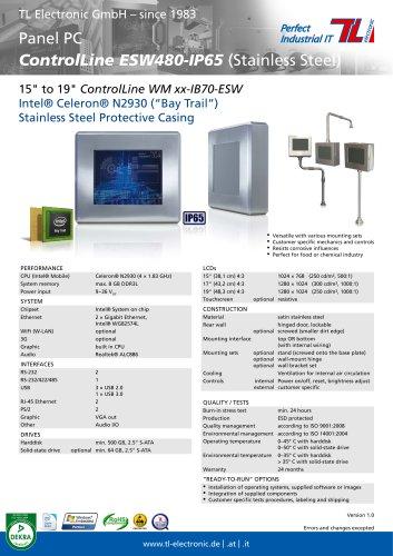 Panel PC ControlLine ESW480-IP65