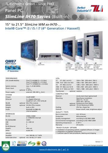 Panel PC SlimLine IH70