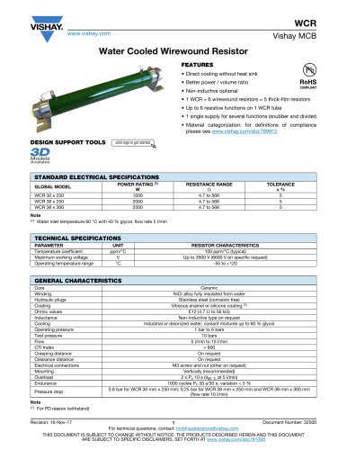 Water Cooled Wirewound Resistor