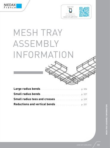 MESH TRAY ASSEMBLY INFORMATION