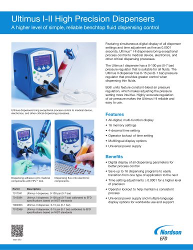 AC Adapter EFD Nordson Ultimus III Precision Fluid Dispenser