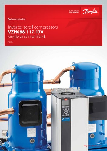 Inverter scroll compressors VZH088-117-170 single and manifold serie