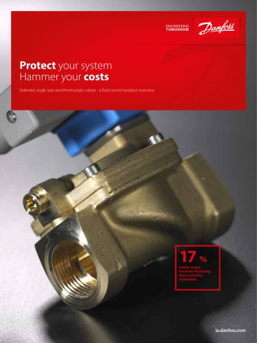 Solenoid, angle seat and thermostatic valves - a fluid control product overview