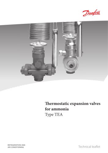Thermostatic expansion valves for ammonia, type TEA