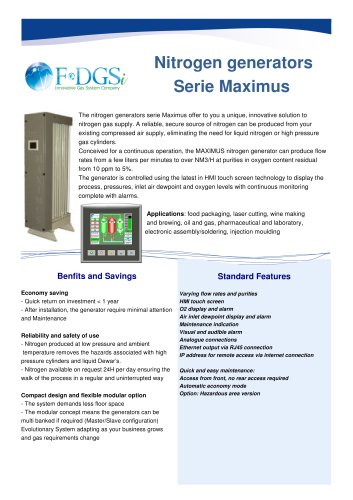 Nitrogen Generator Maximus for Industrial and Lab applications