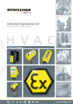 Schischek Product Catalogue: Explosion-proof actuators, sensors and control systems for HVAC applications