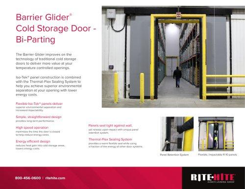 Barrier Glider® Cold Storage Door - Bi-Parting